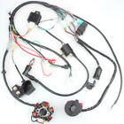 6 Coil Pole Ignition 50CC 125CC Mini ATV Complete Wiring Harness CDI STATOR