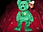 Pre-owned Ty Beanie Baby Bear Green Decade MWT retired 2003