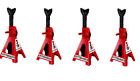 Set of Four4 3 Ton Steel Jack Stands Heavy Duty Auto Truck Repair Shop Garage