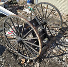 Pair of Antique Wooden 16 Spoke Carriage Wagon Wheels Used For Civil War Reenact