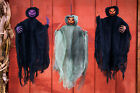 20 Hanging Glitter Pumpkin Head Ghost Ghoul Reaper Scary Halloween Decoration
