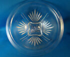 Hazel Atlas Clear Glass Star Pattern Rolled Rim Mixing Bowl 8 1/2