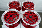 15 Wheels Honda Civic Accord Miata Prelude Aveo Cobalt Red Wheels 4x100 4x1143