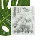 Xmas trees and candles Scrapbooking Album Card Decor Diary Craft Clear Stamps GN