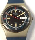 1985 Swatch Watch GM701 Calypso Diver In German Good Cond