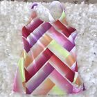 Old Navy Active Womens Sz M Pastel Criss Crross Back Tank Top EUC