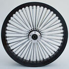 Black Chrome 48 King Spoke 26 x 35 Front Single Disc Wheel for Harley Models