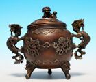 Exquisite Rare Antique Chinese Bronze Censer Burner Marked YuTangQingWan WJ688