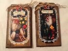 5 WOOD PriM Vintage Santa Christmas Ornaments,PRIM HangTags,Winter ORNIES Set724