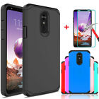For LG Stylo 4 4+ Plus Stylo 3 Armor Case Cover+Tempered Glass Screen Protector