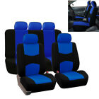 9Pcs Blue Car Accessories Seat Cover Full Set Front Rear Seat Cushion Protector