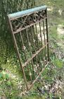 Antique Victorian Iron Gate Window Garden Fence Architectural Salvage Old 19x28
