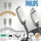 For Philips 3FT Micro USB Fast Charging Phone Data Sync Charger Braided Cable
