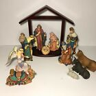 Kirkland Signature 13 PC Nativity Set w Wood Creche 75177 100 COMPLETE