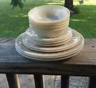 Fire King Ivory Swirl Mixed Lot Berry Bowls Plates Fire King Oven Ware