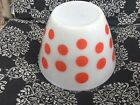 Vintage Fire King Red Polka Dot Oven/Splash Proof 9 1/2 Inch Mixing Bowl 4 Quart
