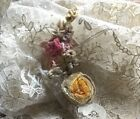 ANTIQUE  SILK RIBBON FLOWER  ROCOCO  SPRAY  WEDDING DRESS  FLOWER DOLL TRIM HAT