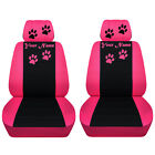 Car Suv Seat Covers 2014-2019 Jeep Cherokee Front Seat Paw Prints Abf