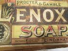 Primitive Old Victorian Wooden Lenox Soap Crate Box! Just Fits the Hand, 1890