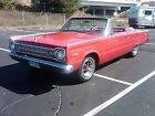 Satellite 1966 Plymouth Satellite Convertible 52645 Miles Red