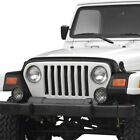 For Jeep Wrangler 97 06 Hood Guard and Front Corners Set Trail Armor Matte Black