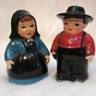 Vintage Antique Salt And Pepper Shaker Man And Woman Set Japan 35 Tall
