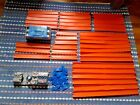 Hot Wheels 2 Speed Power Booster 37pc Straight Track  23 Connectors  Race Case