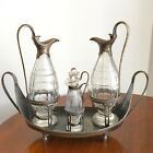 ANTIQUE 18th Century English Sterling Silver Condiment Set - AF