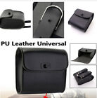PU Leather Black Universal Motorcycle Dirt Bike Scooter Luggage Saddle Tool Bag
