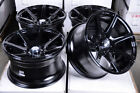 15 Wheels Fit Prelude Accent Spectra Corolla Honda Civic Accord Black Rim 4Lug