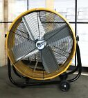 Industrial Shop Fan Heavy Duty Drum Rolling Factory Floor Commercial Barn Big