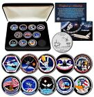 SPACE SHUTTLE CHALLENGER MISSION NASA Florida State Quarters 10 Coin Set w BOX