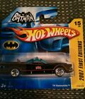 TOP Hot Wheels '66 TV Batmobile First edition 2007 Batman RAR short card