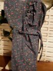 cabin primitive prairie homestead bonnet pioneer blue with pink roses calico