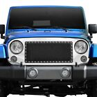 For Jeep Wrangler 07 17 Paramount Evolution Black Packaged Wire Mesh Main Grille