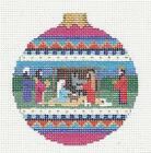 Holy Family Nativity handpainted Needlepoint Canvas Rd Ornament Susan Roberts