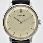 Auth CORUM Hand-winding Stainless Steel/Leather Women's Watch H#75799