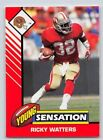 1993  RICKY WATTERS - Kenner Starting Lineup Card - SAN FRANCISCO 49ER - (white)