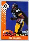 1993  ROD WOODSON - Kenner Starting Lineup Card - PITTSBURGH STEELERS - (COLOR)