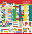 Scrapbooking Crafts PP 12X12 Paper Pack School Days House Bus ABC Apples Books