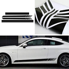 Racing Sport Stripe Car Body Side Roof Vinyl Double Line Graphic Decal Sticker