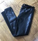 Lumiere Women's Black Faux Leather Pants Leggjngs Medium M