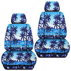 Jeep Liberty Front Car Seat Covers Hawaii Palm Treeflower Yellowredblue...