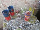 Lot of 7 Assorted Vintage Drinking Glasses Lot A