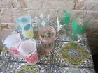 Lot of 7 Assorted Vintage Drinking Glasses Lot B
