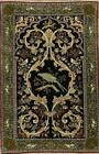 Silk Vegetable Dye Antique 3x5 Isfahan Persian Oriental Rug 5' 2