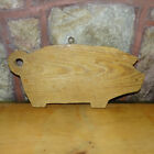 Old Pig Cutting Board With Eyelet On Top For Hanging Country Kitchen Rustic Farm