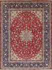 LABOR DAY SALE! Vintage Isfahan Persian Hand Knotted Oriental Red Area Rug 10x13
