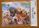 8 Leanin Tree Note Cards Lots of DOGS SMILING SELFIES Lab Yorkie Chihuahua etc