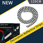 120CM Motorcycle Reflective Stripes Rim Tape Line PVU Black Modified Accessories